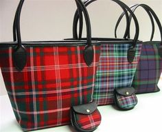 Picture of Iona Bucket Style Tartan Handbag (In Your Tartan) Women's Handbags & Wallets Tartan Mode, Tartan Kilt, Tote Bags, Tweed, Tartan Fashion, Scottish Fashion, Scottish Tartans, Plaid Christmas, Red Plaid