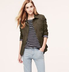 Petite Zip Front Field Jacket, $98 (but 50% off with code OURTREAT)