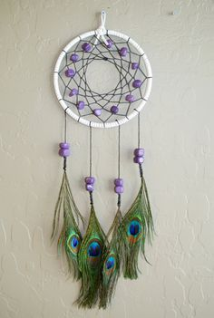 Peacock Dreamcatcher on Etsy, $22.00