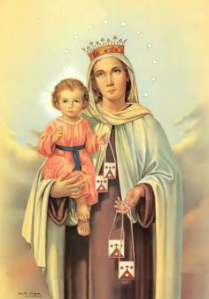 Our Lady of Mt. Carmel, hear our prayers.  💙🌹💙