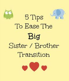 5 Tips To Ease The Big Sister Brother Transition