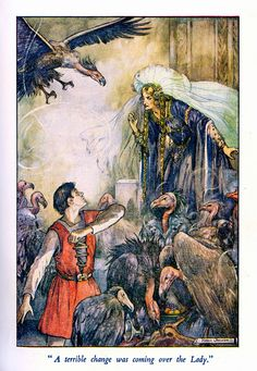 illustration by Helen Jacobs from 'The Story of Armin' by Viola Bayley Fom the book 'The Wings of the Morning' 1936