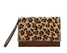 Retro Leopard Flip Clutch  Price: £25.99  【Size】22.5×15cm  【Weight】220g  【Material】PU  【Color】Chocolcate