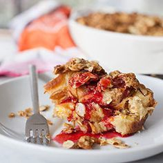 Easy brunch: Baked Orange French Toast with Almond Crumble.