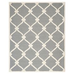 Safavieh Cambridge Dark Gray Area Rug. Like this rug, with yellow and green accent colors.