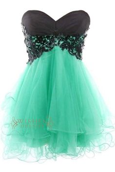A-line Black Lace Tulle Cocktail Dress/ Prom Dress/ Homecoming Dress Am227