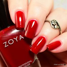 Zoya Ming Red Nails, Hair And Nails, Zoya Nail Polish, Nail Colors, Colours, Nail Artist, Winter 2017, Beauty Nails, Swatch