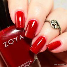Zoya Ming Zoya Nail Polish, Nail Colors, Colours, Red Nails, Nail Artist, Beauty Nails, Swatch, Manicure, Winter 2017