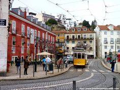 El tranvía 28 es la mejor opción para ver Lisboa buen precio, pues pasa por los principales puntos de interés y su precio es realmente bajo.