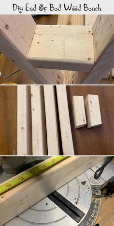 Build an easy DIY wood bench for the end of a bed. This project is fun to build and it looks beautiful. Deck Repair, Diy Wood Bench, Save My Money, Minwax, Pocket Hole, Wood Glue, Woodworking Projects, Easy Diy, Give It To Me