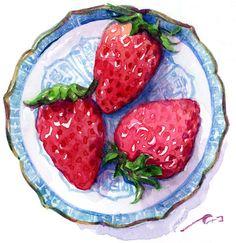 Tea Cup Art, Tea Cups, Fate Stay Night Series, Food Painting, Food Drawing, Food Illustrations, Food Art, Watermelon, Food And Drink