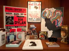 Items about Bob Dylan housed in what´s believed to be the nation´s only research archive devoted to the myth and meaning of Dylan at La Salle University´s Connelly Library. (RON TARVER/Staff Photographer)