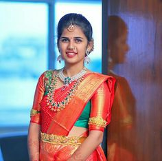 Three Great Ways To Find Cheap Diamond Rings Half Saree Designs, Bridal Blouse Designs, South Indian Bride, Indian Bridal, Pattu Sarees Wedding, Middle Eastern Fashion, Bridal Outfits, Party Outfits, Bride Portrait