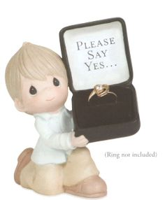 Precious Moments For The One I Love - Please Say Yes $45.00 Wedding,Gift,engagement, Figurine Click on Image to Buy Now