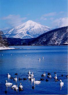 Lake Inawashiro Japan: Go on a walking tour of Japan! Visit www.walkjapan.com for details.