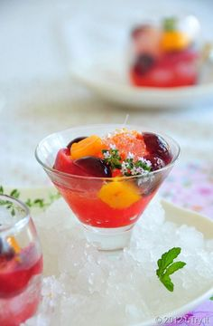 Citrus Poached Cherry Snow--Perfect way to cool down this Summer. @oxo #cherryoxo
