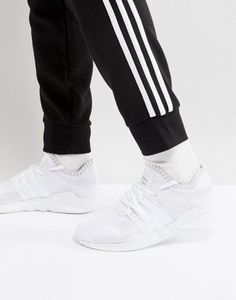 watch 40087 1ee7e adidas Originals EQT Support ADV Primeknit Sneakers In White BY9391 White  Adidas Originals, Eqt Support
