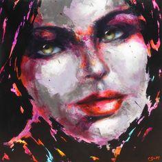 Berto – 774 – 100x100cm Portraits, Les Oeuvres, Contemporary Art, Artwork, Painting, Woman Face, Contemporary, Canvas, Artist