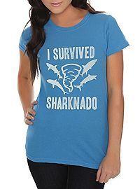 HOTTOPIC.COM - Sharknado I Survived Sharknado Girls T-Shirt