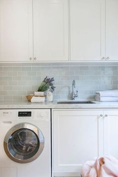 Longueville Kitchen, Pantry & Laundry – Liebke Projects Longueville Kitchen, Pantry & Laundry – Liebke Projects - Own Kitchen Pantry Laundry Room Tile, Modern Laundry Rooms, Laundry Room Storage, Laundry Cabinets, Interior Design Living Room, Living Room Designs, Laundry Room Inspiration, Laundry Room Design, Kitchen Pantry