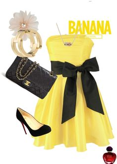 """""""banana"""" by loo-oo ❤ liked on Polyvore"""