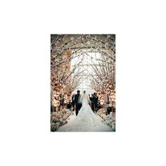 Wedding Ceremony Decoration Ideas with 50 Stunning Wedding Aisle... ❤ liked on Polyvore featuring accessories