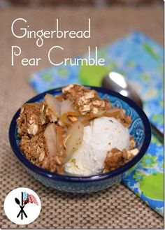 Gingerbread Pear Crumble from OATrageous Oatmeals. You can make this in your slow cooker, just stick the pottery crock into the oven to crisp the topping before serving.