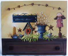 Pintura em Country Primitivo Mundo da Arte Atelier