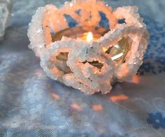 DIY  Borax  Crystal Candle Holders  You may be familiar with making snowflakes from Borax crystals.  In this instructable we will be making Borax crystal candle holders the same way with the magic of science.