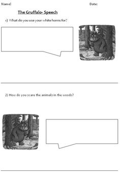The Gruffalo speech bubbles - This versatile resource is a great way of encouraging descriptive writing and question answering.