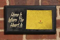 Home Is Where The Heart Is - Customizable Colorado Vintage Style Plaque/Sign Decorative & Custom State Of Colorado, Visit Colorado, Vintage Style, Vintage Fashion, Basketball Wall, City Background, Where The Heart Is, Wedding House, Wall Plaques