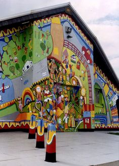 Hockwell Ring Community Centre Carnival Mural – by Gary Drostle & Rob Turner