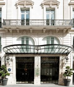 Architecture of La Maison Champs Elysees Paris This looks like a good hotel chain for boutique hotels just about anywhere.