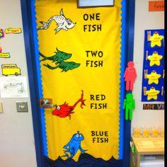 My classroom door for Dr. Seuss's Birthday :-)