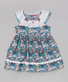 Blue Floral Lace Dress - Toddler & Girls by Hi-D #zulily #zulilyfinds