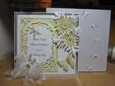 Wedding Anniversary Cards, Wedding Cards, Spellbinders Cards, Paper Crafts, Diy Crafts, Pretty Cards, Drake, Sue Wilson, Wedding Engagement