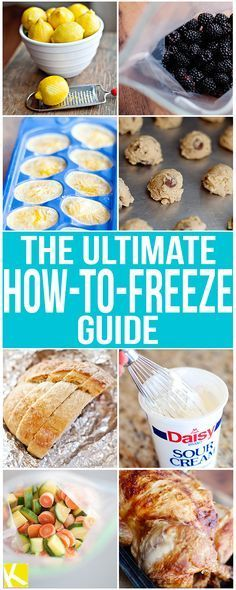 Healthy Tips The Ultimate How-to-Freeze Guide - Did you know exactly how many different foods you can freeze and still be edible? This ultimate how-to freeze guide will tell you everything! Freezing Vegetables, Fruits And Veggies, Freezer Cooking, Cooking Tips, Cooking Games, Cooking Bacon, Freezer Recipes, Cooking Videos, Cooking Classes