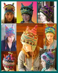 Whimsical Hats = staples to any off-beat eclectic wardrobe!