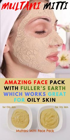 It contained cooling properties that help to relieve the inflammation caused due to severe acne. It helps to tighten the skin and reduce wrinkles and fine line. Here are some amazing Multani mitti face packs for healthy and glowing skin. Multani Mitti Face Pack, Fullers Earth, Mask For Oily Skin, Skin Toner, Facial Care, Facial Tips, Acne Prone Skin, Skin Treatments, Natural Skin