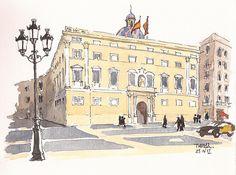 Barcelona. Plaça Sant Jaume. Palau de la Generalitat. by Txema Raudona, via Flickr