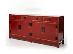 Shop for Four Hands Shanxi Sideboard 4 Door/4 Drawer-Red, CZHA-61-RED, and other Living Room Cabinets at Custom Home Furniture Galleries in Wilmington, NC. Representing the best of Chinese antique reproductions, each piece in the Zhang Collection preserves venerable patterns and exotic frames that have been adapted into multi-functional accent items for today's household needs.