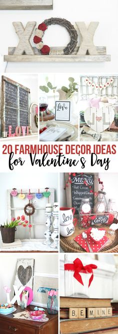 Farmhouse Decor Ideas for Valentine's Day! fixer upper | modern farmhouse | valentines day | decor
