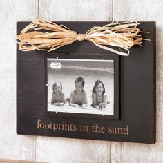 #MudPie Footprints in the Sand Wood #Frame #whimsicalumbrella