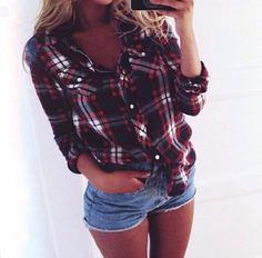 Farmy outfit with a little denim short