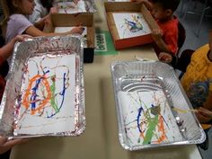 """That Little Art Teacher: Beginning of the Year. She says: """"Art Centers are a life saver with Kindergarten. 3 tables with 3 different activities rotating every 15 minutes = awesome!! Usually a manipulation game, play dough, and art activity."""""""