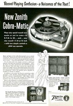 1950 Zenith Cobra-Matic Phonograph