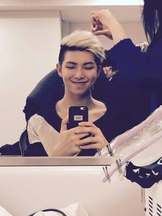 BTS Rap Monster , Kim Nam Joon Cute smile <3