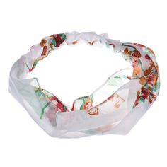 Susenstone® 1PC Vingate Floral Printing Hair Band Hair Cap Headband (White) -- Read more  at the image link.