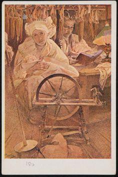 Antique Alphonse Mucha Blessed Are The Peacemakers Art Nouveau Czech Artist Art Nouveau Mucha, Alphonse Mucha Art, Art Nouveau Poster, Prague, Illustrator, Renaissance, Famous Art, Art Deco Period, Les Oeuvres