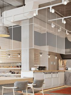 Soon Contemporary Food court Coffee Shop Design, Cafe Design, Commercial Design, Commercial Interiors, Bar Concept, Deco Restaurant, Counter Design, Restaurant Interior Design, Brewery Interior